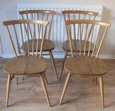 Ercol Retro Dining Chairs Golden Dawn