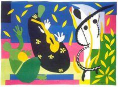 """""""Tristeza do rei,1952-Henri Matisse"""".Obra do fauvismo."""