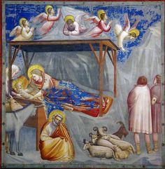 All sizes | Giotto - La nascita di Gesù e l'annuncio ai pastori. Padova, Cappella degli Scrovegni | Flickr - Photo Sharing!