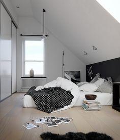 https://flic.kr/s/aHskq9qLzZ | Swedish style bedroom | Swedish style bedroom made with Corona Renderer