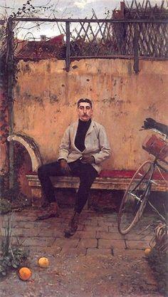 Portrait of Ramon Casas - Santiago Rusinol. Impresionismo