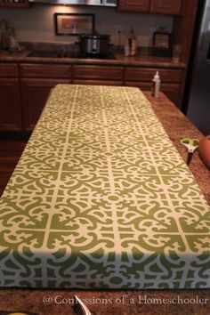 How to make a large, sturdy cushion for window seat. Staple gun, no sewing.