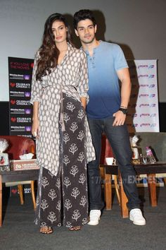 Sooraj Pancholi and Athiya Shetty at Whistling Woods institute. #Bollywood #Fashion #Style #Beauty #Handsome