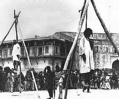 The Assyrian Genocide 1914 in the Ottoman Empire. They were killed because they never give up on their Christian identity.