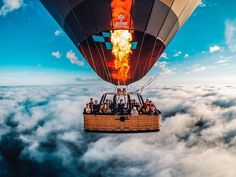 """""""Photo of the Day!  Greetings from 4,500 feet with @na34te of @beyondballooning as they soar high above the clouds during an Australian #sunrise. Share…"""""""