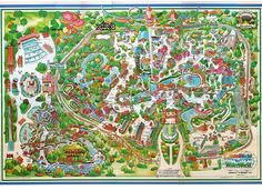 1984 Astroworld Map