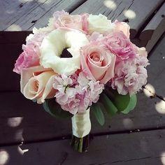 Blush anemone bridesmaid bouquets