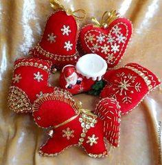 Новый год 2015 ручной работы. Ярмарка Мастеров - ручная работа Елочные игрушки «яркий новый год». Handmade.