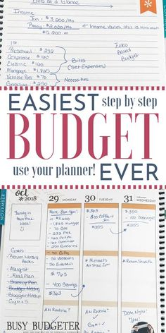 This explained really clearly how to get started and track your budget in your notebook or planner (which is free), and how to track your budget based on how you get paid (monthly, weekly, or biweekly) and when money is coming out. Like a calendar budget or by paycheck. We did this when we were saving money to buy a house and it worked. I loved having meal planning and my schedule with my budget and we this is a super simple & easy solutions for families trying to save money. #budget… Ways To Save Money, Money Tips, Money Saving Tips, Money Hacks, Managing Money, Planning Budget, Financial Planning, Meal Planning, Financial Budget