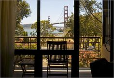Golden Gate Bridge in San Francisco from Cavallo Point Lodge