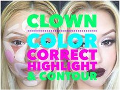Clown Color Correct Highlight & Contour
