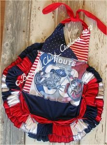 Fathers Day 4Th Of July Parade Summer Halter Twirl Dress Upcycle Made In America