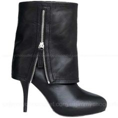 Manolo Blahnik Black Fold Over Boots