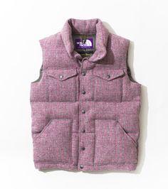 THE NORTH FACE PURPLE LABEL Harris Tweed Short Sierra Vest