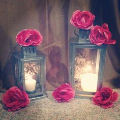 Lantern Centerpieces from Something Borrowed.