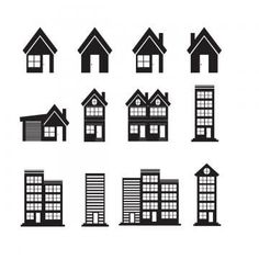 House Clipart, House Vector, Real Estate Icons, Real Estate Logo Design, Building Logo, Building Icon, Free Vector Illustration, Home Icon, Business Icon