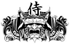 Chest Tattoo Japanese, Japanese Warrior Tattoo, Japanese Mask Tattoo, Japanese Dragon Tattoos, Japanese Tattoo Designs, Cool Chest Tattoos, Chest Tattoos For Women, Chest Piece Tattoos, Tattoo Samurai