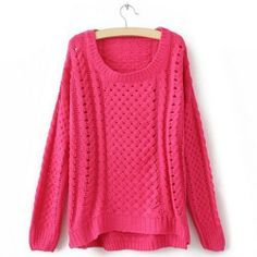 Women Hot Round Neck Hollow Knitted Pullover Jumper Loose Sweater Knitwear (Rose Red) other,http://www.amazon.com/dp/B00EOK3KJK/ref=cm_sw_r_pi_dp_82TKsb00VNWJVPQA
