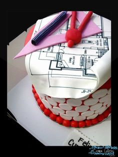 Architect cake Architecture Cake, Engineering Cake, African Theme, Office Themes, Crazy Cakes, Pretty Cakes, Cake Art, New Wave, Themed Cakes
