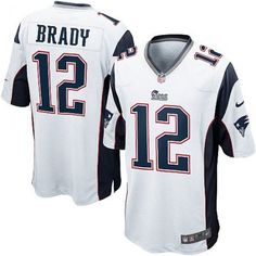 NFL New England Patriots Jordan Richards Mens Game Road White Jersey 5208b106f