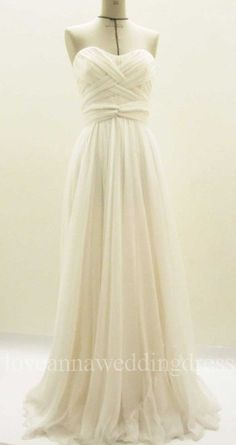 Elegant ruched sweetheart aline floor by Loveannaweddingdress, $199.00