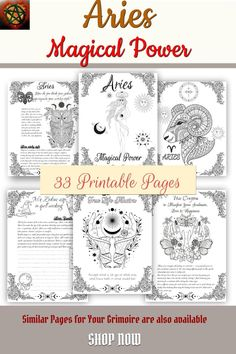 Aries Zodiac Astrology Chart, Mothers Day Gift Ideas - 33 Coloring Pages Astrology And Horoscopes, Astrology Chart, Aries Sign, Aries Zodiac, Find Your Zodiac Sign, Wiccan, Magick, Witchcraft, Zodiac Personalities