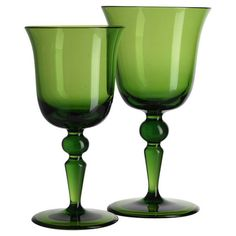 St. Moritz Water Goblet Green | Gracious Style