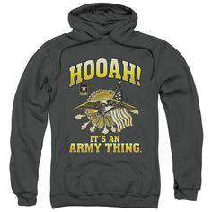 Army - Hooah Adult Pull Over Hoodie