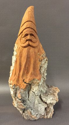 A personal favorite from my Etsy shop https://www.etsy.com/listing/470149696/hand-carved-original-tall-santa-bust
