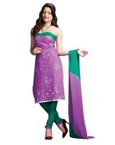 Unstitched Kurta Set purplegreenTSSGBNSK40341