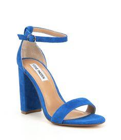 2326254c826 Shop for Steve Madden Carrson Suede Ankle Strap Block Heel Dress Sandals at  Dillards.com