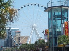 The Skywheel in Myrtle Beach offers spectacular views of the ocean and scenery.