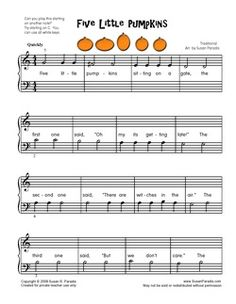 links to halloween piano sheet music for beginners - Online Halloween Music