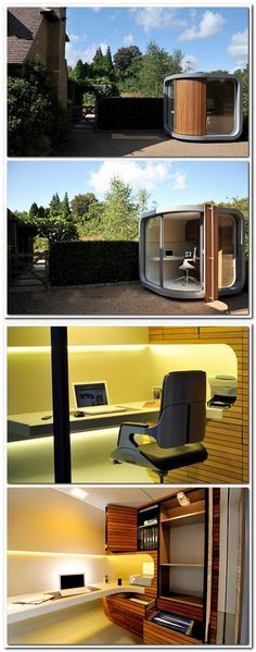 OfficePOD Becoming an OfficePOD user can bring benefits to all. The ability to cut down on commuting and spend more time at home, yet be more productive in your office, safe from day-to-day distractions.
