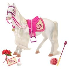 """Our Generation 20"""" Tennessee Walking Horse With Accessories - someone is getting her the 2013 American Girl doll - this one matches (almost perfectly) that doll's horse"""