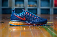 Nike Air Max Motion: New Slate/Team Orange-Mid Navy