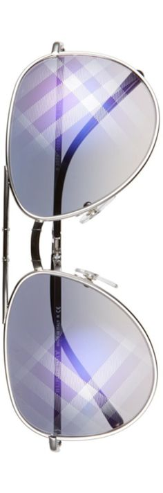 Burberry 57mm Foldable  Aviator Sunglasses