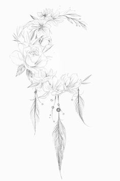 Untitled - Tattoo ideen - Tattoo Designs for Women Body Art Tattoos, Small Tattoos, Sleeve Tattoos, Feather Tattoos, Flower Tattoos, Cover Up Tattoos, Tattoo Drawings, Tatuagem Diy, Schulter Tattoo