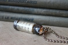 Message in a Bottle- A Little Remnant of Parisian Prose. $24.00, via Etsy.