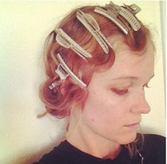 Wave clamps for perfect finger waves -  http://www.howtohairgirl.com/tag/how-to-do-finger-waves/#
