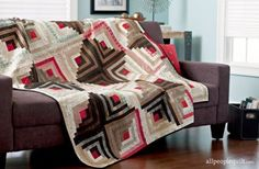 Log Cabin quilt blocks feature strips of fabric pieced around a center  square. Use the technique in a variety of ways to get different looks in a  quilt built from the same block!