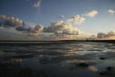 Lage wolken op Schiermonnikoog