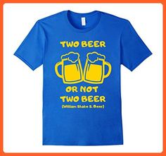 Mens Two Beer or Not Two Beer - Funny Beer Lover Shirts Large Royal Blue - Food and drink shirts (*Partner-Link)