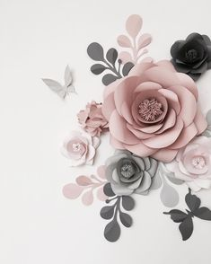 489 Best Big Paper Flowers Images In 2018 Paper Flowers Paper