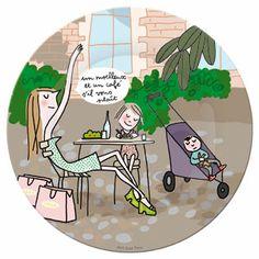 Assiette en mélamine Terrasses Paris par Soledad Petit Jour