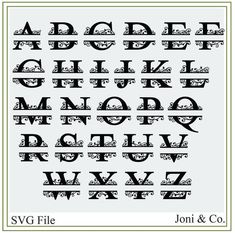 Monogram Alphabet, Monogram Fonts, Handwriting Alphabet, Free Monogram, Initials Logo, Monograms, Local Craft Fairs, Craft Markets, Wedding Invitation Cards