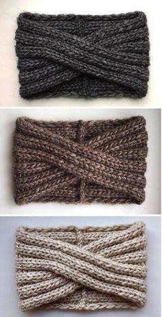 Knit Alpaca Turban Wool headband Knit alpaca wool Headband Gray Turban headwrap