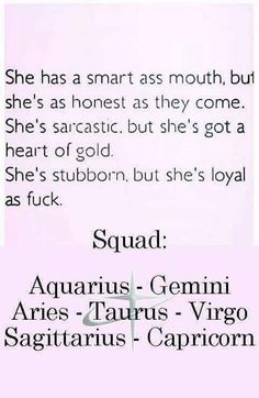 My brother is a Gemini, and I'm a Capricorn, and we're raised by a Taurus and a Sagittarius. I DON'T THINK SO! Zodiac Sign Traits, Zodiac Signs Sagittarius, Zodiac Star Signs, Zodiac Horoscope, My Zodiac Sign, Astrology Signs, Aquarius And Sagittarius, Aquarius Traits, Aquarius Woman