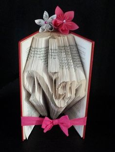 Nan book art paper sculpture folded pages origami
