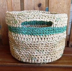 bag If your city hasnt already placed a ban on plastic grocery bags, you can use these 5 recycled plastic bag projects to reduce your carbon footprint at home. Reuse Plastic Bags, Plastic Bag Crafts, Plastic Bag Crochet, Plastic Grocery Bags, Plastic Baskets, Plastic Bottles, Plastic Recycling, Plastic Spoons, Recycled Crafts